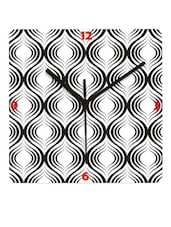 Amazing Black And White Patterned Wall Clock - Krayons