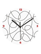 Amazing White And Black Tangled Wall Clock - Krayons