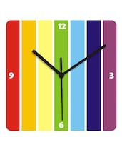 Geometric  Stripes Home Decor Wall Clock - Krayons