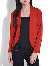 Solid Red Acrylic Spandex Shrug - By