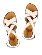 White Wedge Sandal With Buckle - Urban Country