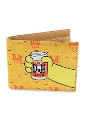 Yellow Here's Homer Satin Wallet - By