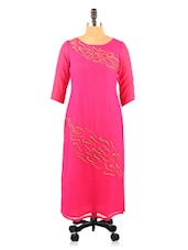 Short Wavy Short Print Quarter Sleeve Cotton Kurta - Fashion 205