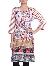 Multicolored Rayon Printed Kurta - By