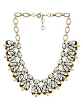 Gold Metal Alloy Necklace - By
