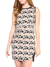 black and pink floral printed dress -  online shopping for Dresses