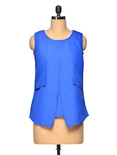 Royal Blue Sleeveless Casual Top - Myaddiction