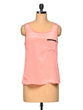 Peach Sleeveless Casual Top - Myaddiction