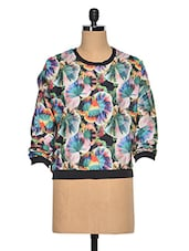 Multicolored Polyester Full Sleeves  Top - Oxolloxo