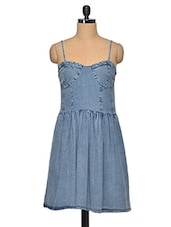 Blue Stylish Denim Dress - Oxolloxo