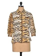 Polyester Tiger Print Shirt - Oxolloxo