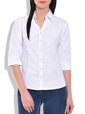 White Arrow Printed Shirt - By