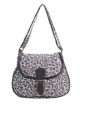 Leopard  Print Cotton Sling Bag - Art Forte