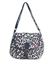 Animal Printed Cotton Sling Bag - Art Forte