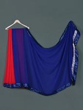 Blue Red Georgette Designer Net Fabric Saree - Aakriti
