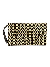 Black  Art Silk  Clutch - By