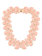 Peach Metal Alloy Necklace - By