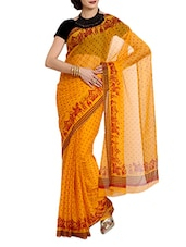 Yellow Polka Dotted Saree - Aaboli