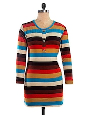 Multicoloured Striped Dress - VEA KUPIA