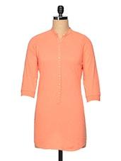 Mandarin Neck Button Down Dress - Femella