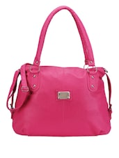 Pretty Pink Leatherette Handbag - Bags Craze