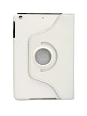 White Faux Leather Tablet Cover - Bags Craze