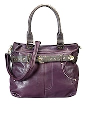 Purple Leatherette Sling Bag - Bags Craze