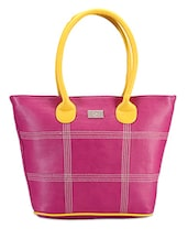 Bright Pink Hand-held Tote - Bags Craze