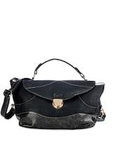 Solid Black Hand-held Bag - Bags Craze