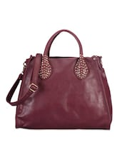 Classic Maroon Hand-held Bag - Bags Craze