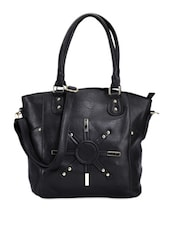 Stunning Black Leather Tote - Bags Craze