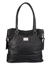 Classic Black Leather Tote - Bags Craze