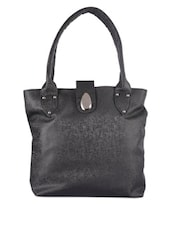 Classy Black Leather Tote - Bags Craze