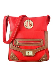 Fabulous Red Leather Sling Bag - Bags Craze