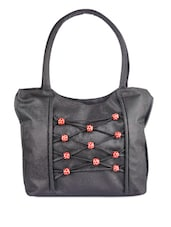 Black Play With Beads Handbag - Bags Craze
