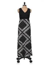 Black Viscose Maxi Dress - Magnetic Designs