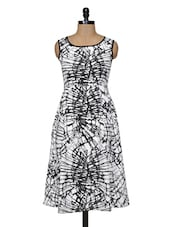 White Black  Midi Dress - Magnetic Designs