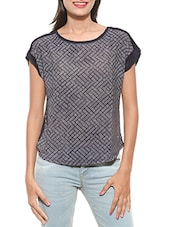 Grey Printed Cotton Top - By