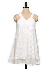 Delicate White Lace Dress - Ozel Studio