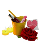 Make Up Gift Bucket Valentine - Gifts By Meeta