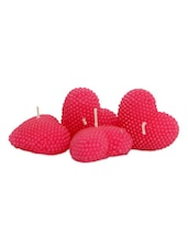 Heart Candles Set Of 4 - Gifts By Meeta