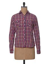 Multicoloured Checks Cotton Shirt - VAAK