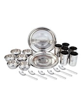Stainless Steel 24 Pcs Dinner Set - Elegante'