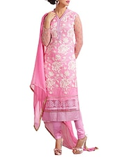 Pink Color Pure Georgette Dress Material - By