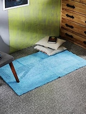 Blue Egyptian Cotton Area Rug - By