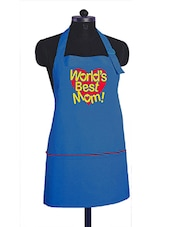 """World's best mom!"" printed  Kitchen Apron With Adjustable strap -  online shopping for Aprons"