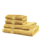 Beige Classic Super Soft Family Pack Set Of 4 Towels - Just Linen