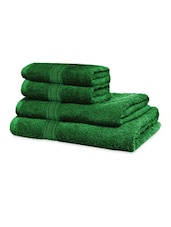 Forest Green Classic Super Soft Family Pack Set Of 4 Towels - Just Linen