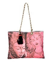 Budha Print Tote Handbag - The House Of Tara