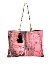Budha Print Tote Handbag - The House Of Tara